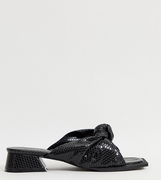 Z Code Z Z_Code_Z Exclusive Lana vegan mules in black lizard with square toe