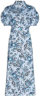 Erdem Frederick floral-print cotton midi dress