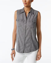 Style&Co. Style & Co Petite Printed Shirt, Only at Macy's