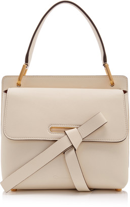 Oscar de la Renta Caveat Leather Top Handle Bag