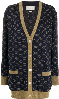 Gucci interlocking G lame cardigan