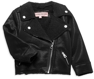 Urban Republic Little Girl's Faux Shearling-Lined Moto Jacket