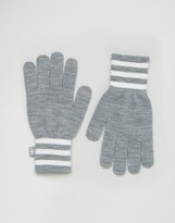 adidas Knitted Gloves With Three Stripe Trim