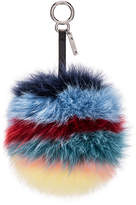 Fendi Rainbow Fox Fur Pom Pom Charm