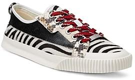 Jimmy Choo Men's Impala Snakeskin Embossed Leather Sneakers