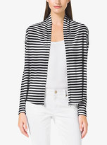 Michael Kors Striped Waffle-Knit Cardigan Plus Size
