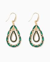 Charming charlie Multi Jeweled Teardrop Earrings