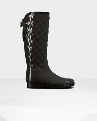 Hunter Women's Refined Slim Fit Adjustable Quilted Tall Wellington Boots