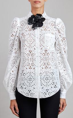 Elie Saab Broderie Anglaise Shirt