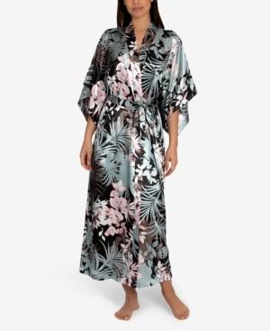 Linea Donatella Nohea Tropical-Print Wrap Robe