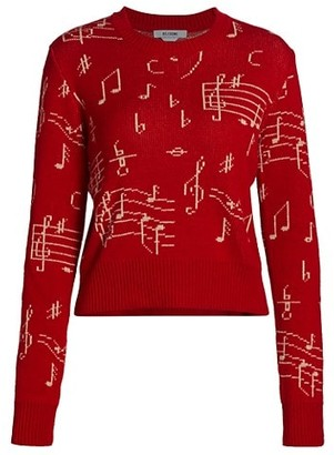 RE/DONE Music Note Sweater