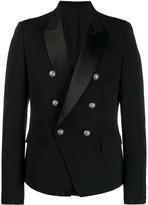 Balmain double breasted blazer -Black