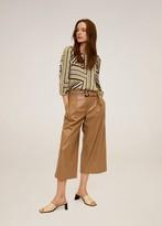 MANGO Puffed sleeves striped shirt ecru - 2 - Women