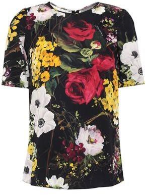 Dolce & Gabbana Floral-print Silk-blend Georgette Top