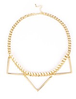 Sole Society Short Chain Geo Necklace