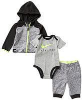 Nike Baby Boys Newborn-6 Months Color Block Hoodie, Pants, and Bodysuit Set