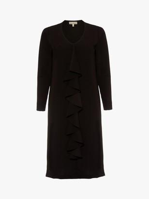 Phase Eight Massy Frill Front Dress, Black
