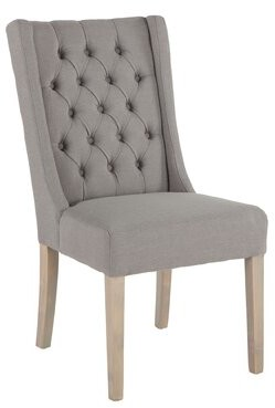 Ophelia Micaela Upholstered Parsons Chair (Set of 2 & Co. Upholstery Color: Oxford Gray, Leg Color: Napoleon