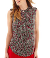 Liz Claiborne Sleeveless Button-Front Blouse