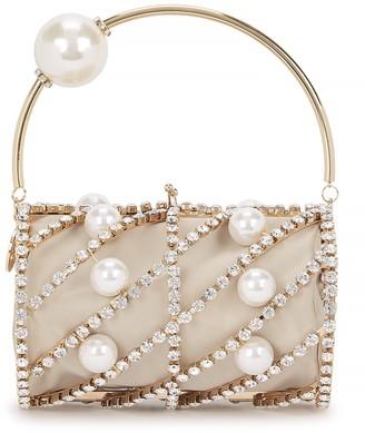 Rosantica Brigitta crystal-embellished top handle bag