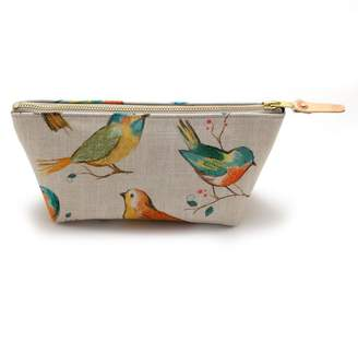 General Knot & Co Watercolor Birds Travel Clutch