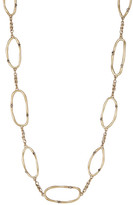 Lucky Brand Semi Precious Accented Oval Station Necklace