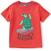 Joules Little Boys 3-4 Ben Short-Sleeve Turtle Graphic Tee