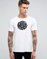 Pretty Green T-shirt With Logo Print In Slim Fit White