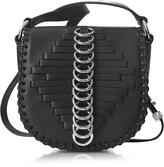 Alexander Wang Mini Lia Black Woven Leather Shoulder Bag w/Rings