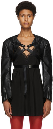 Junya Watanabe Black Faux-Leather Harness Jacket