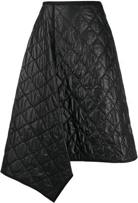 Juun.J textured asymmetric hem skirt