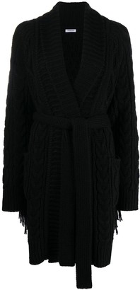 P.A.R.O.S.H. Lively cable-knit cardi-coat