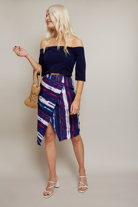 Paper Dolls Kennet Stripe Belted Bardot Dress