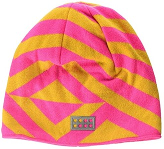 Lego Snow Beanie with Micro Fleece Lining and All Over Print (Little Kids/Big Kids) (Dark Pink) Caps