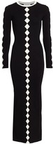 Victor Glemaud Diamond Pattern Knit Maxi Dress