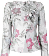 Armani Collezioni floral jacquard jacket - women - Silk/Polyester - 40