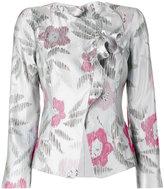 Armani Collezioni floral jacquard jacket