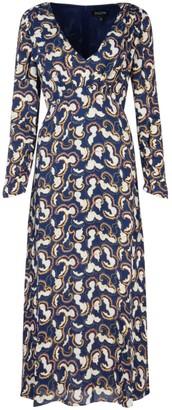 Saloni Coral Print Maxi Dress
