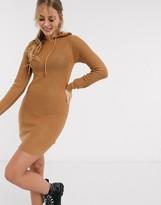 Brave Soul manhatan hoody dress in camel