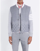 Thom Browne Sea-embroidered Quilted Shell Gilet