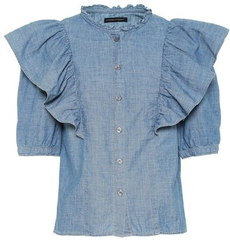 Citizens of Humanity Jolene cotton-chambray blouse