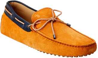 Tod's TodS Gommino Suede & Leather Loafer
