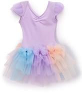 Wenchoice Girls' Leotards PURPLE,BLUE,CORAL - Purple & Pink Cap-Sleeve Tutu Dress - Infant, Toddler & Girls