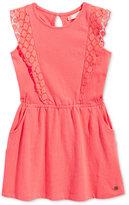Roxy Crochet Lace Trim Cotton Dress, Toddler & Little Girls (2T-6X)
