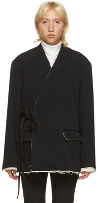 Ambush Black Raw Kimono Blazer
