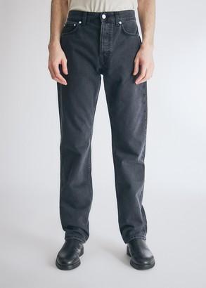 Séfr Men's Straight Cut Jean in Rinsed Black, Size 28   100% Cotton