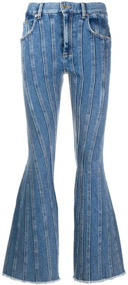 Thierry Mugler mid rise flared jeans