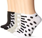 Hot Sox Women's Zig Zag Ped 6 Pack Sock