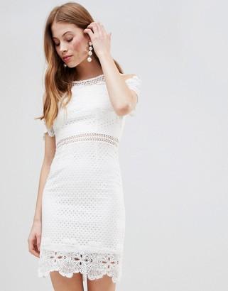 Glamorous Cold Shoulder Lace Dress
