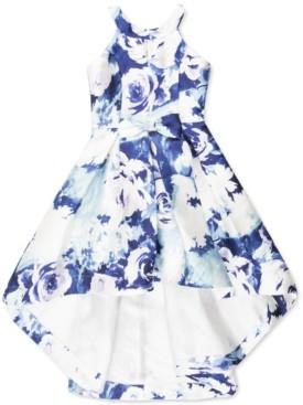 Speechless Big Girls Floral Mikado High-Low Dress